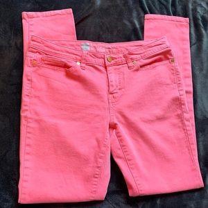 Pink Denim Mossimo Jeans Size 8 Curvy Skinny